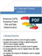 Lecture 4 Capital Budgeting and Risk