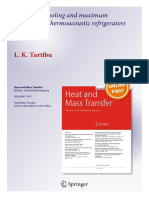 Maximum Cooling & Efficiency of Thermoacoustic Refrigerators