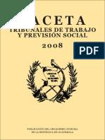 GACETA TRIBUNALES DE TRABAJO GUATEMALA 2008