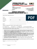 Formulir Pendaftaran Gub Bup Wako Lira