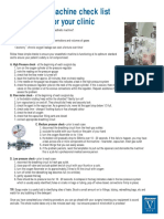 Anaesthetic Machine Checklist