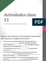 Actividades Clase 15