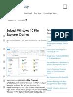 Solved_ Windows 10 File Explorer Crashes - Driver Easy