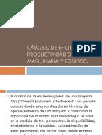 Calculo de Eficiencia y Productividad De