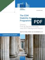 Greece's ESM Programme - 1st & 2nd review evaluation [EU Commission]