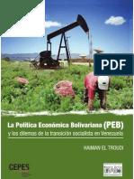 Haiman El Troudi. Política Económica Bolivariana, 2010