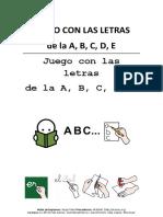 Juego Con Las Letras a B C D E ARASAAC