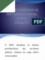 Regimes Próprios de Previdência Social (Rpps)