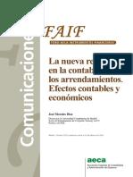 La Nueva Revolución en La Contabilidad de Los Arrendamientos. Efectos Contables y Económicos