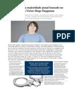 Redução Da Maioridade Penal Baseado No Caso Victor Hugo Deppman