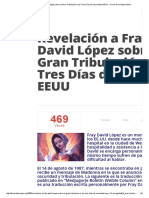 Revelación a Fray David López Sobre La Gran Tribulación y Los Tres Días de Oscuridad, EEUU » Foros de La Virgen María
