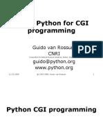 Python Cgi