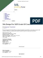 Mix Design for M35 Grade of Concrete