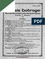 Analele Dobrogei, 1924-1925