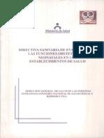 Directiva Sanitaria de Evaluacion de Obstetras Establecimientos de Salud