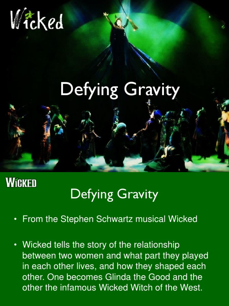 Defying Gravity Glinda The Good Witch Wizard Of Oz Character