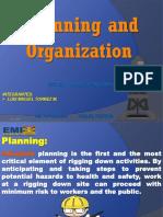 planning and organination