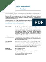 Sba 504 Loan Program Fact Sheet