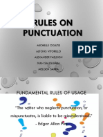 Rules on Punctuations