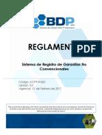 GCPP-R-002 Reglamento Sistema de Registro de Garantias No Convencionales