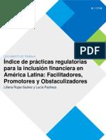 Practicas Regulatorias Para La Inclusion Financiera en America Latina 2017