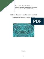 Sisteme dinamice – analiza vibro-acustică