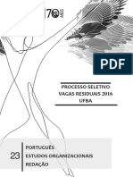 V RESIDUAIS 2016 - Cad 23 (Português, Estudos Organizacionais e Redação)