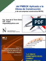 Clase Fundamentos PMBOK Aplicado a Obras