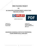 an Analysis of Recruitment and Selection Process at Uflex
