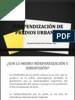Independización de Predios Urbanos (1)