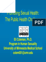 Promoting Sexual Health Coleman WHO 2007