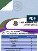 HARI ORIENTASI Unit Kurikulum (2016)