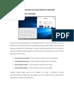 Combinaciones de Acceso Rapido de Windows