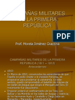Campañas Militares de La Primera República