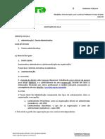 Resumo-Adminstracao Geral e Publica-Aula 01-Teorias Administrativas-Prof. Rodrigo Barbatti
