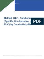 EPA Method 120.1(Conductance)