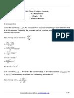 12 Chemistry Ncert Ch04 Chemicals Kinetics Part 01 Ques