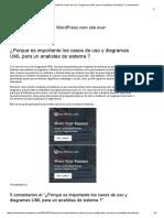 ¿Porque Es Importante Los Casos de Uso y Diagramas UML Para Un Analistas de Sistema _ _ Mayerlincon