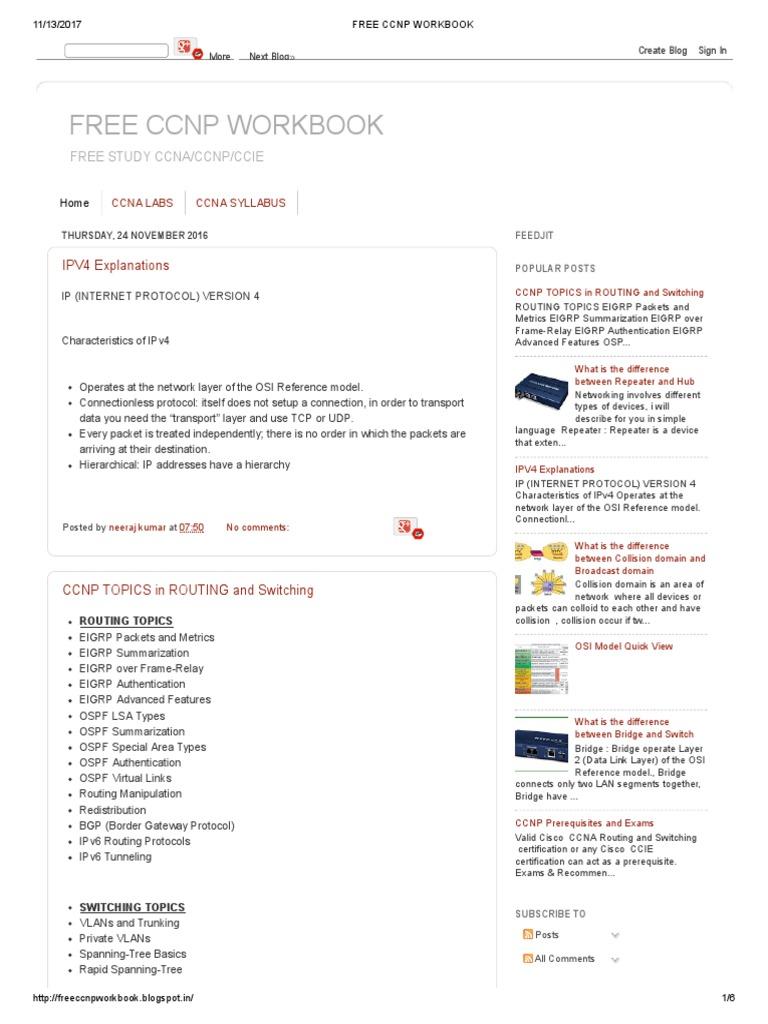 Workbooks ccnp lab workbook : Free Ccnp Workbook   Network Switch   Computer Network