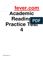 Ieltsfever Academic Reading Practice Test 4 PDF