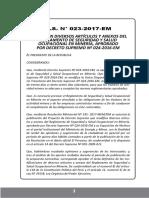 Reglamento de Seguridad y Salud Cupacional en Mineria D.S.023 2017 EM