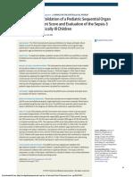 Adaptation and Validation of a Pediatric Sequential Organ 2017 Matics JAMA