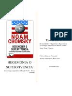 Reseña Sobre Hegemonia o Supervivencia de Noam Chomsky