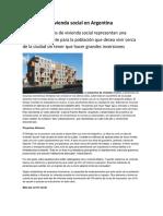 Proyecto de Vivienda Social en Argentina