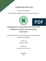Organización de La Cadena Productiva Del Cuy en El Valle de Mantaro Proyectado Al Mercado Nacional e Internacional_2016