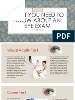 what you need to know about an eye exam