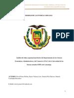 Análisis del clima organizacional dentro del Departamento de las Ciencias Económicas, Administrativas y del Comercio (CEAC) de la Universidad de las fuerzas armadas ESPE sede Latacunga.