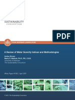 Water Scarcity Indices and Methodology