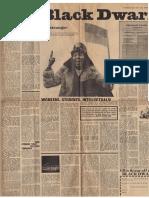 Black Dwarf Pre-publication Issue