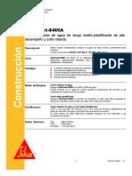 Aditivo Reductor Agua Medio Plastificante Sikaplast 8400a